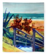 Down The Stairs To The Beach Fleece Blanket