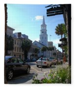 Down Town Charleston Fleece Blanket