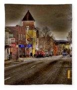 Down Town Lexington Va Fleece Blanket