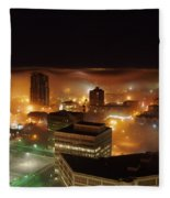 Downdown Calgary  Fleece Blanket