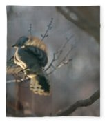 Downey Woodpecker Fleece Blanket