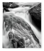 Downstream From Anna Ruby Falls Fleece Blanket