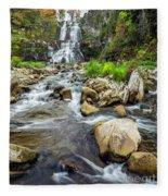 Downstream From Chittenango Falls Fleece Blanket