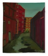 Downtown Alley-portland Maine Fleece Blanket