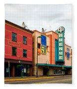 Downtown Anchorage Alaska Fleece Blanket