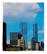 Downtown Chicago Fleece Blanket