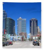 Downtown Kansas City Fleece Blanket
