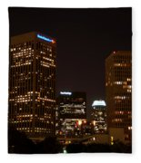 Downtown L.a. In Hdr Fleece Blanket