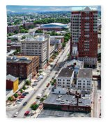 Downtown Manchester Fleece Blanket