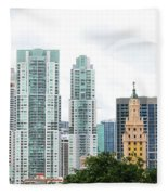 Downtown Miami Fleece Blanket