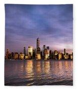 Downtown Nyc Fleece Blanket