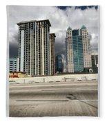 Downtown Orlando, Florida Fleece Blanket