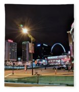 Downtown Saint Louis Fleece Blanket