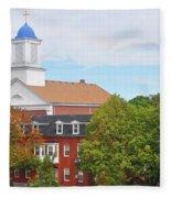 Downtown Salem Ma Fleece Blanket