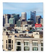 Downtown San Francisco Fleece Blanket