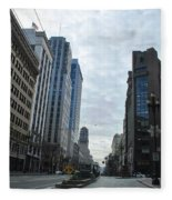 Downtown San Francisco - Market Street Fleece Blanket