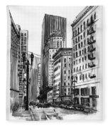 Downtown San Francisco Fleece Blanket