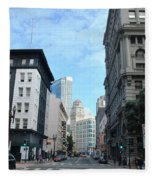 Downtown San Francisco Street Level Fleece Blanket