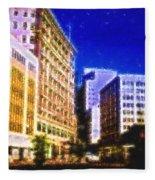 Downtown Seattle  Fleece Blanket