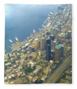 Downtown Seattle Fleece Blanket