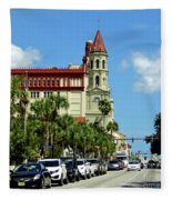 Downtown St Augustine Fleece Blanket