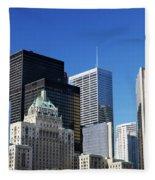 Downtown Toronto Fleece Blanket