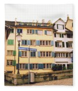 Downtown Zurich Switzerland Fleece Blanket