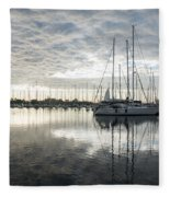 Downy Soft Clouds At The Marina Fleece Blanket