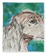 Doxie Blues Fleece Blanket
