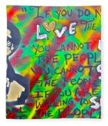 Dr. Cornel West  Love The People Fleece Blanket
