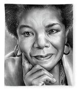 Dr Maya Angelou Fleece Blanket