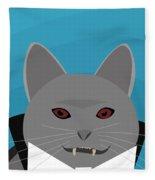 Dracula Cat Fleece Blanket