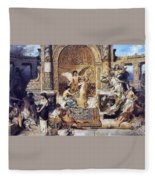 Draft Curtain Theatre In Krakow 1894 2 Henryk Semiradsky Fleece Blanket