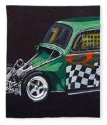 Drag Racing Vw Fleece Blanket