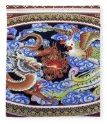 Dragon And Bird Fleece Blanket