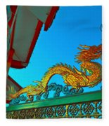 Dragon At The Gate Fleece Blanket