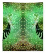 Dragon Eyes At Dawn Fleece Blanket
