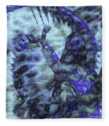 Dragon Flower Fleece Blanket