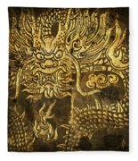 Dragon Pattern Fleece Blanket