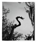 Dragon Shaped Tree Fleece Blanket