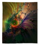 Dragon Wisdom Eye Fleece Blanket