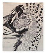 Dragon - Zentangle 16-04 Fleece Blanket