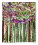 Dragonfly Bloomies 1 - Pink Fleece Blanket