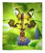Dragonfly Design Fleece Blanket