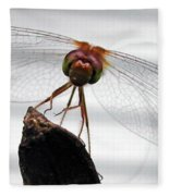 Dragonfly Face Fleece Blanket