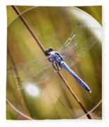 Dragonfly In A Bubble Fleece Blanket