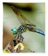 Dragonfly Landing Fleece Blanket