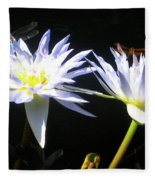 Dragonfly Lily Fleece Blanket