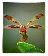 Dragonfly Pitstop Fleece Blanket
