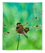 Dragonfly Rear Approach Fleece Blanket